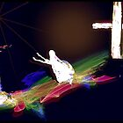 Jesus Helping  the Woman   by Rick  Todaro