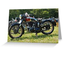 BSA M20/M21 Greeting Card