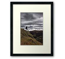 High On A Hill Framed Print
