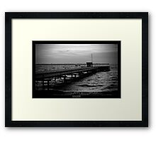 Old bridge Framed Print