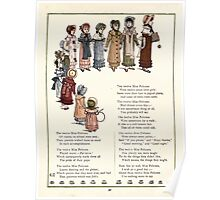 Under the Window Pictures and Rhymes for Children Edmund Evans and Kate Greenaway 1878 0060 Twelve Miss Pelicoes Poster