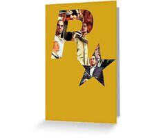 Rockstar Montage Cutout  Greeting Card