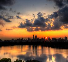 Sunset above central park. NY. by garyfoto