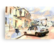 Outside the Warwick Post Office QLD Canvas Print