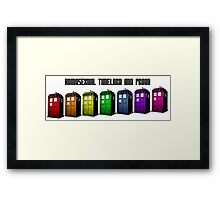 Homosexual Timelord and Proud Framed Print