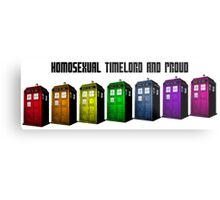 Homosexual Timelord and Proud Metal Print