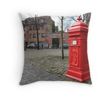 Post Box Red Throw Pillow