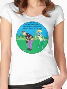 Mr. Meeseeks Happy Gilmore Parody Women's Fitted Scoop T-Shirt