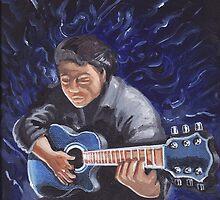 Stringless guitar by Jesse Ross
