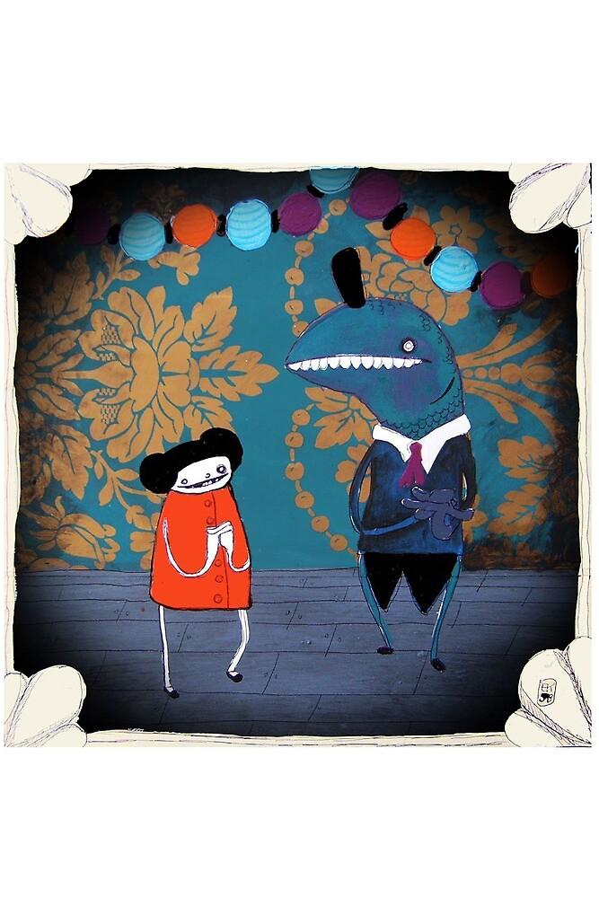 My Night with Mr. Fish  (card version) by emmaklingbeil