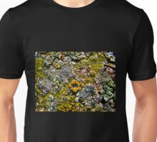 """Rock and Lichen Abstract"" Unisex T-Shirt"