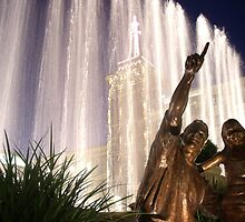 Fountains at the Americana by L K Southward