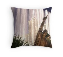 Fountains at the Americana Throw Pillow