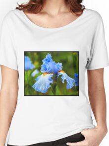 Beautiful Blue Iris Women's Relaxed Fit T-Shirt