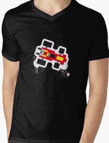 pixel car Mens V-Neck T-Shirt