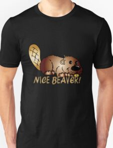 Nice Beaver T Shirt With Cartoon Beaver T-Shirt