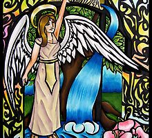Archangel Gabriel Stained Glass Design by KBStudios