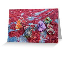 Empowering Woman with Red Chili Greeting Card