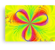 Colorful Flower Ribbons Canvas Print