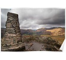 Trig Point on Loughrigg Fell Poster
