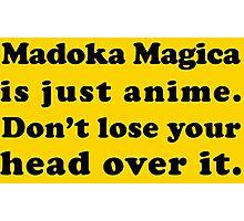Madoka Magica Anime - Mami's Head Photographic Print