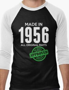 Made In 1956 All Original Parts - Quality Control Approved Men's Baseball ¾ T-Shirt