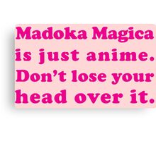 Madoka Magica Anime - Mami's Head in Pink Canvas Print