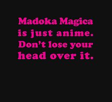 Madoka Magica Anime - Mami's Head in Pink Womens Fitted T-Shirt