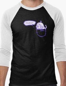 What are you looking at? - purple version Men's Baseball ¾ T-Shirt