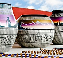 Navajo Pottery - Print by Mark Podger
