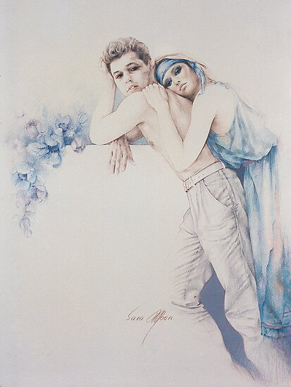 """Gentle Moments"" Colour Pencil Artwork by Sara Moon"