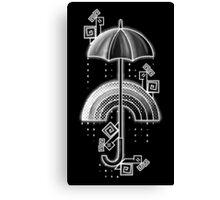 Under the rain - White Canvas Print