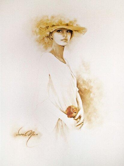 """Romantic"" Oil on Canvas by Sara Moon"