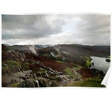 Descent from Loughrigg Fell Toward Grasmere Poster