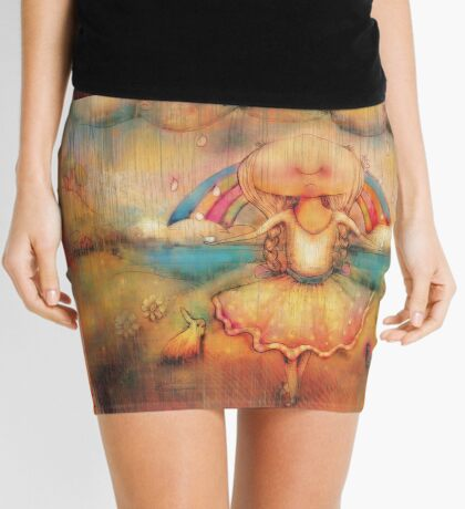 Dancing in the Rain Mini Skirt