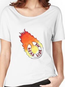 Dead Like Me - Flaming Toilet Seat Women's Relaxed Fit T-Shirt