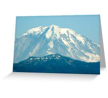 Mount Rainier Peak Greeting Card