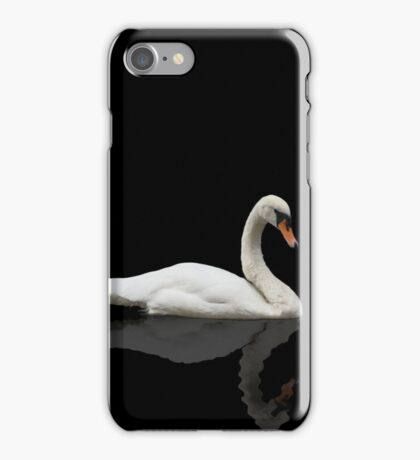 Swan on Black Background  iPhone Case/Skin