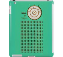 Retro geek Gumby green Transistor Radio design iPad Case/Skin