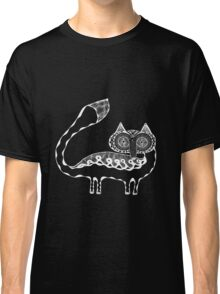 Arctic Fox White on Black Classic T-Shirt