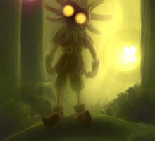 Skull kid is staring at you by Maysoulrose