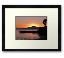 The sun setting on Wild Cat Cove Framed Print