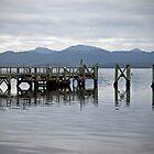 Sarah Island Jetty, Macquarie Harbour, West Coast Tasmania by Kristi Robertson