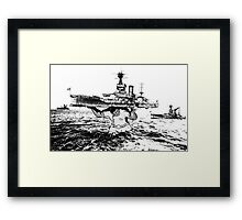 ATLAS OF THE WAVES Framed Print