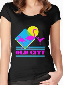 Old City, Philadelphia  Women's Fitted Scoop T-Shirt