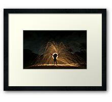 Suburban Illumination Framed Print