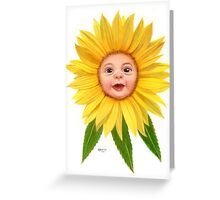Flower Folk - Sunflower Greeting Card