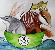 The Bilby and the Numbat went to sea in a beautiful pea green boat by Debbie  Widmer