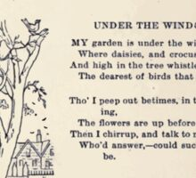 Miniature Under the Window Pictures & Rhymes for Children Kate Greenaway 1880 0007 Under The Window Sticker