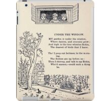 Miniature Under the Window Pictures & Rhymes for Children Kate Greenaway 1880 0007 Under The Window iPad Case/Skin